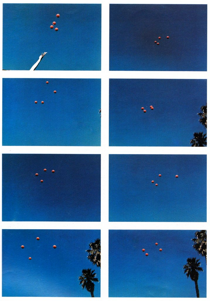 "Baldessari ""Throwing Four Balls in the Air to Get a Square"""
