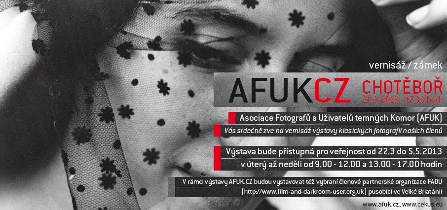 Pozvánka na vernisáž a výstavu AFUK 2013 v Chotěboři